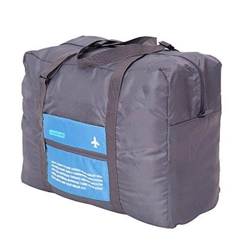 Gleading Capacità Grande Impermeabile Pieghevole Portatile di Viaggio Borsa da Viaggio Trolley Borsa Bagagli Vestiti Deposito Bagaglio a Mano-Blu