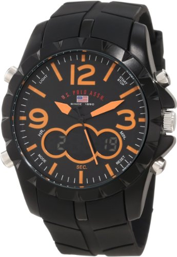 U.S. Polo Assn. Sport Men's US9238 Black Analog