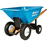 Big 4 Wheeler Heavy-Duty Wheelbarrow with Airless Tires, 8-Feet