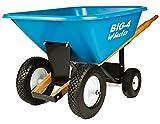 Big 4 Wheeler Heavy-Duty Wheelbarrow with Airless Tires, 8-Feet
