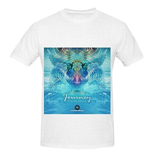Journey Flying Spirit Men O Neck Custom Tee Shirts White