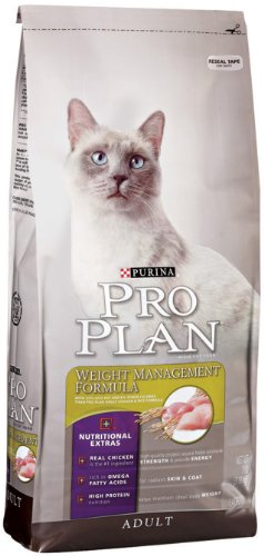 See Purina Pro Plan Dry Adult Cat Food, Weight Management Formula, 16-Pound Bag