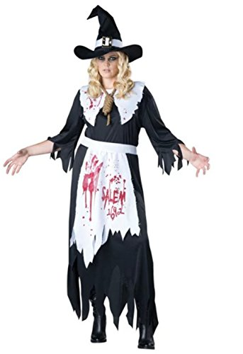 NonEcho Adult Salem Witch Costume for Women Halloween Party Kit