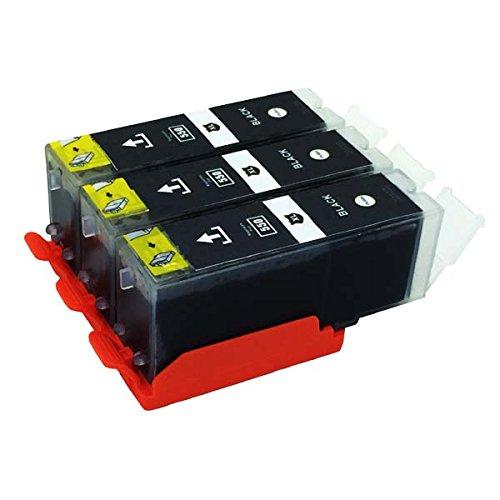 3 x kompatibel Tintenpatronen PGI-550 PGB mit Chip für Canon Pixma: IP7250 MG5450 MG6350 MX725 MX925