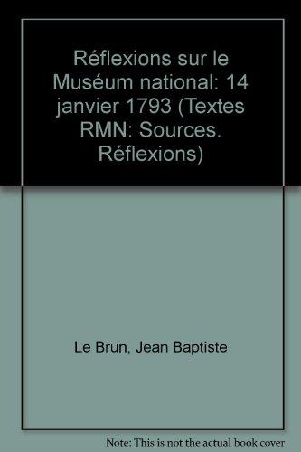 Réflexions sur le muséum national : 14 janvier 1793
