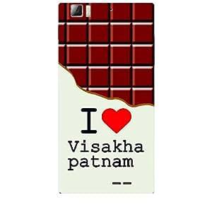Skin4gadgets I love Vishakapatnam - Chocolate Pattern Phone Skin for LENOVO K900