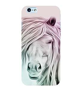 White Horse 3D Hard Polycarbonate Designer Back Case Cover for Apple iPhone 6S