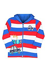 Chirpie Pie by Pantaloons Boy's Hooded T-Shirt (205000005610042, Red, 12-18 Months)