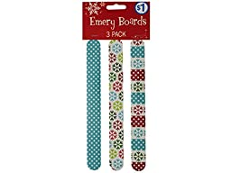 Bulk Buys Holiday Print Emery Boards - Pack of 108