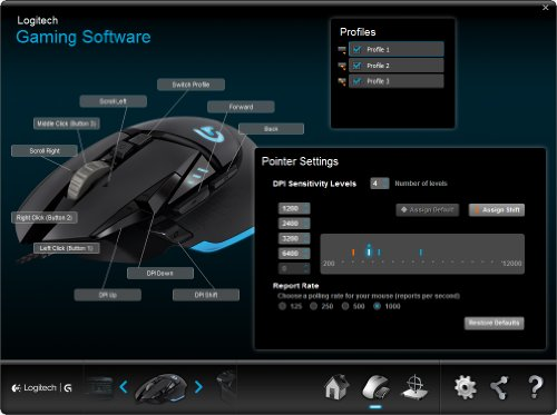 841073cab75 Logitech G502 Proteus Core Tunable Gaming Mouse with Fully ...