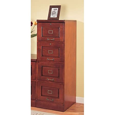 Coaster Home Furnishings Traditional File Cabinet, Cherry