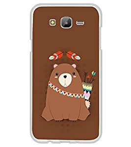 Warrior Bear 2D Hard Polycarbonate Designer Back Case Cover for Samsung Galaxy On7 G600FY :: Samsung Galaxy On 7 (2015)