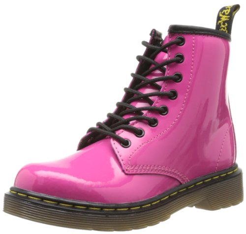 DR MARTENS  J Boot Patent Lamper,  Stivali unisex bambino, Rosa (Rose (Hot Pink)), 34