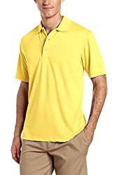 PGA TOUR Men's Golf Air Flux Short-Sleeve Solid Polo Shirt