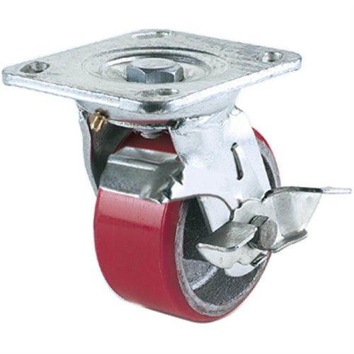 Grizzly G8176 Heavy-Duty Swivel Caster with Brake 4-InchB0000DD72G