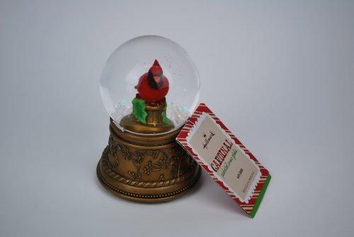 Hallmark Cardinal Pedestal Snow Globe