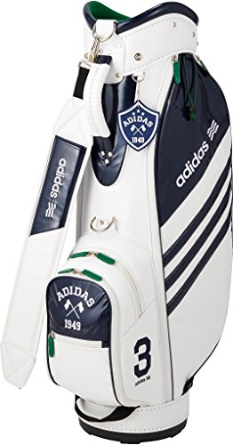 adidas Golf(アディダスゴルフ) ADICROSS キャディバッグ5 QR958 A15556 ホワイト/ネイビー 9型/5分割