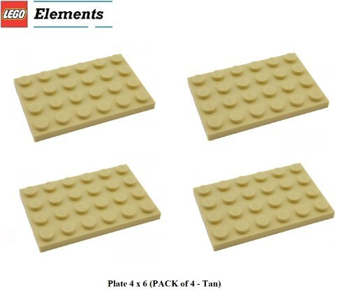 lego-parts-plate-4-x-6-tan-by-parts-plates