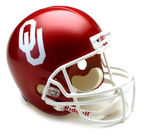 NCAA Oklahoma Sooners Deluxe Replica Football Helmet Riddell Full Sized Helmets autotags B001HSNI9Y