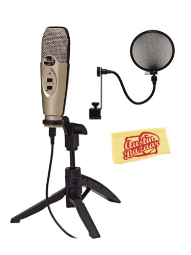 Cad U37 Usb Studio Recording Microphone Bundle With Pop Filter And Polishing Cloth