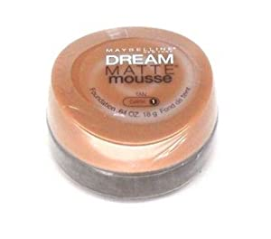 Maybelline Dream Matte Mousse Foundation, Tan, Dark 1 .64 oz (18 g)