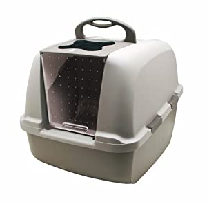 Catit Jumbo Hooded Cat Litter Box / Pan / Litter Tray 57 x 46 x 43cm