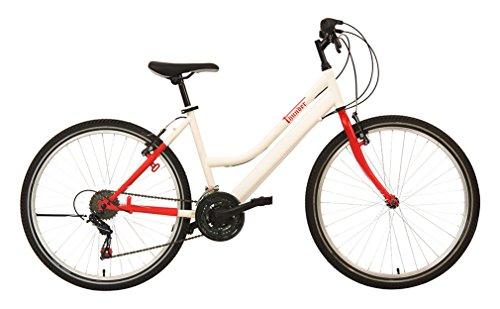 "F.lli Schiano Mountain Bike Thunder Bicicletta Donna Bianco/Rosso opaco, 26"""
