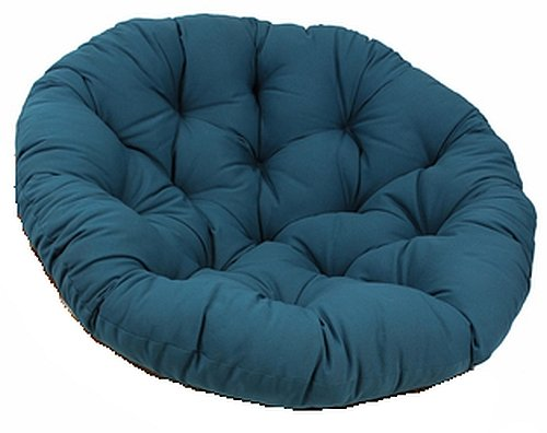 "Blazing Needles 44-Inch Indigo Papasan Twill Cushion - Cushion Only - Comfortable Round And Tufted - Made With Polyester - This Comfy 44"" Cushion Is Fun To Sit In And Useful For Reading, Gaming, Or Just Relaxing And Taking A Nap - Cushion Only front-1058593"