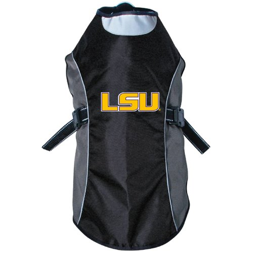 [NCAA LSU Tigers Reflective Pet Jacket, X-Small, Black Or Navy] (Lsu Mascot Costume)