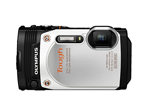 Olympus TG-860 Tough Waterproof Digital Camera with 3-Inch LCD (White)
