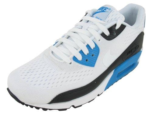 buy popular c7388 3e886 Nike Men s NIKE AIR MAX 90 EM RUNNING SHOES 11 5 Men US WHITE WHITE BLACK  LASER BLUE