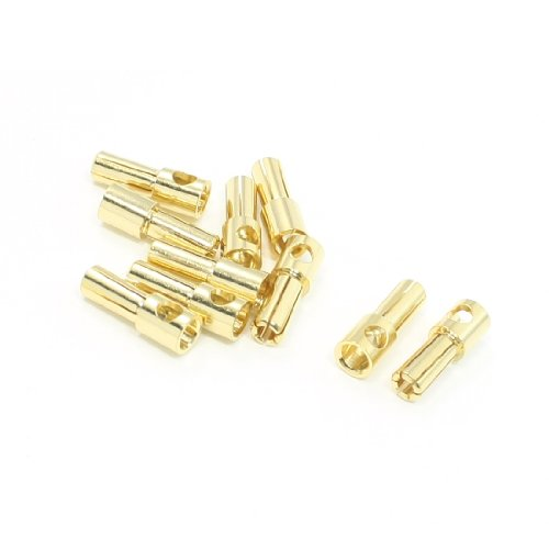 10pcs RC Model Li-Po Battery Male Banana Bullet Connector Plug 5mm