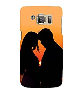 printtech Love Couple Sunset Back Case Cover for Samsung Galaxy S7 / Samsung Galaxy S7 Duos with dual-SIM card slots