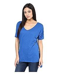 Yepme Women's Blue Cotton Tops - YPWTOPS1111_L