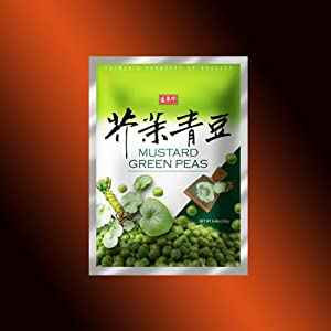 Taiwan Roasted Wasabi Hot Green Peas 30 Packets - 824 Oz 240 G - No Starch No Wheat Flour by Sheng Zhen Xian
