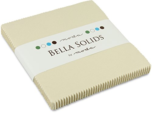 Moda Bella Solids Natural 9900-12 Charm Pack, 42 5-inch Cotton Fabric Squares