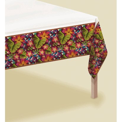 Jungle Floral 54in x 102in Paper Tablecover - 1