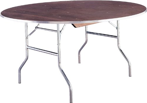 Standard Series Round Folding Banquet Table with Plywood Top