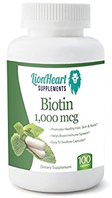 BIOTIN 1,000 MCG- BY LIONHEART SUPPLEMENTS - FREE E-BOOKS - FREE BONUS BIOTIN REPORT + FREE BONUS HEALTHY EATING FOOD GUIDE + A FREE BONUS GUIDE TO HEALTHEIR HAIR,SKIN AND NAILS- For Men and Women -Treats, Supports and Strengthens Hair, Skin and Nails - L