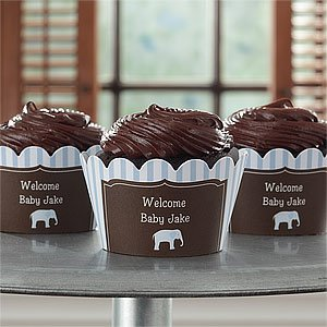 Personalized Baby Cupcake Wrappers - Baby Boy