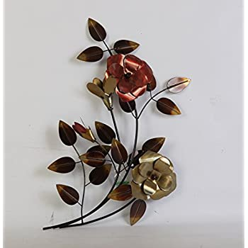 TWG Metal Wall Art Modern Wall Sculptures: Stem Flowers - Dogwood