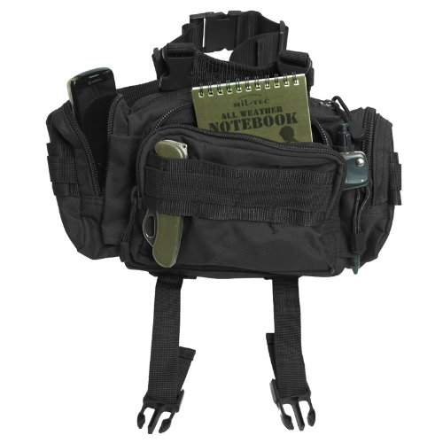 Modular System Waist Bag Belt Pack Hip Pocket MOLLE Travel Hiking Black