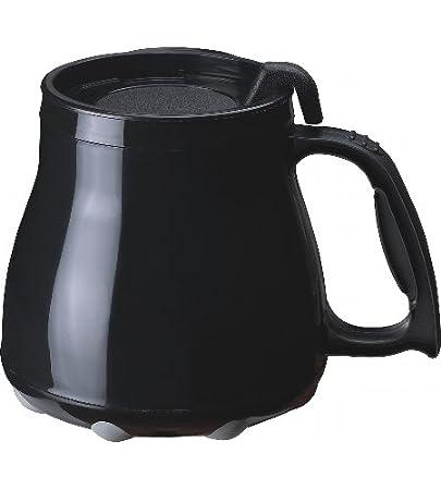 Black Plastic Wide Bottom Coffee Mug
