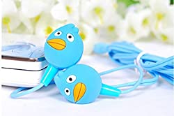 Techwich Angry Bird Style 3.5mm Plug in-Ear Earphone - Blue (with Clip Mic)