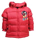 Disney Mickey Mouse Boys Puffa Hooded Jacket 3,4,6,8 Years