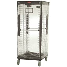 "Rubbermaid Commercial Vinyl Rack Cover Clear, 70.5"" Height, 23.5"" Length x 29.5"" Width"