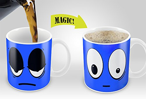 Cortunex | Blue Wake up Magic Mug | Amazing New Heat Sensitive Color Changing Coffee Mug