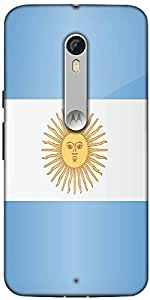 Snoogg Argentina Flag 2981 Designer Protective Back Case Cover For Motorola Moto X Style