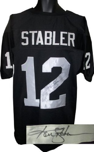 reputable site 5362f c9e92 Ken Stabler Autographed Hand Signed Oakland Raiders Black ...