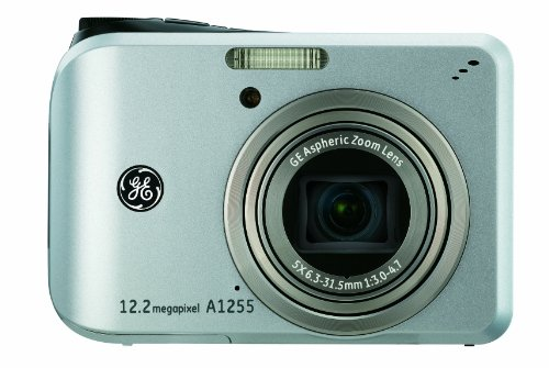 GE A1255 12MP Digital Camera with 5X Optical Zoom and 2.7-Inch LCD with Auto Brightness (Silver)